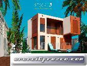 CASA PREFABRICADA SUPERECONÓMICA UTILIZADA 1 SEMANA 125 m2 2 PLANTAS AMUEBLADA 3 HABITACIONES 2 BAÑO