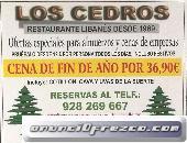 Cena de Fin de año por 36,90 euros