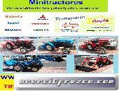 Mini tractores. Kubota, Iseki, Mitsubishi, Yanmar, Hinomoto