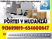 MUDANZAS LEGALES/ECONOMICAS D3SDE 145€PORTES EN TORREJON DE ARDOZ