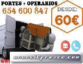 APROVECHA!PORTES OFERTAS 65(4)60(08)47BARATOS ARGANZUELA/MUDANZAS