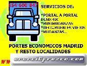 MUDANZAS BARATAS (PRESUPUESTOS) 91(36-89)8.19 PORTES EN MADRID