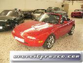 Mazda mx5, coche rojo, con 1600cc