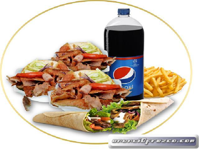Para tus pedidos a domicilio Kebab pak