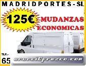 125€ MUDANZAS AUTORIZADAS EN ALCORCON 65460x08::47 PORTES MADRID