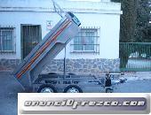 Remolque Basculante 2200x1400x520 de dos ejes con freno 3