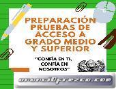 PREPARACIÓN PRUEBAS DE ACCESO A GRADOS