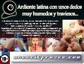 Ardiente y sexy latina recién rasurada con unos dedos muy húmedos y traviesos...