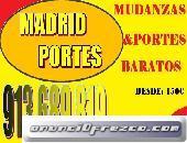 OFERTAS(5 AL 25 CADA MES)65X46OO847 PORTES Y MUDANZAS MADRID
