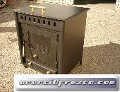 Estufa de leña con horno 58X53X48