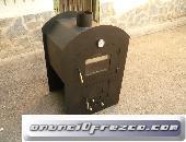 Horno de leña mediano para empotrar 98X67X58