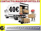 MUDANZAS-VACIADO PISO EN MAJADAHONDA 65-(460)0847 PORTES