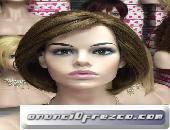 Peluca cabello natural melena corta modelo Asun