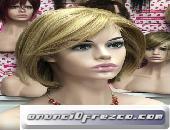 Peluca cabello natural melena corta modelo Asun 2