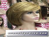 Peluca cabello natural melena corta modelo Asun 3