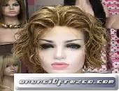 Peluca cabello natural melena corta modelo Asun 4