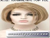 Peluca cabello natural melena corta modelo Asun 5