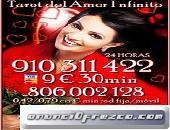 TAROT VISA ACERTADA Y PURA EN EL AMOR INFINITO REAL 910311422 / 9€ 35 min
