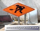 señales preventivas y elementos de obra