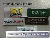 Etiquetas tejidas personalizadas para abrigos