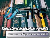 Redacciones, Correcciones y presentación. TFG, TFM Y TESIS.