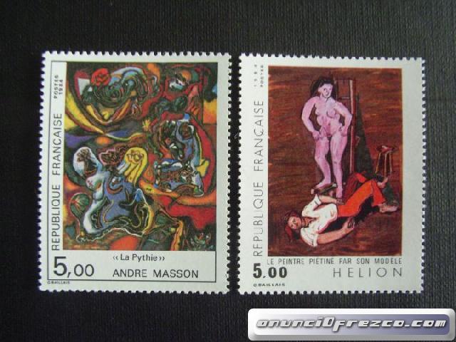 Cambio sellos de Francia por Alemania 3x1