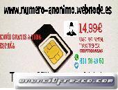 2 Tarjetas SIM Prepago Anónimas