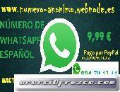 Número Anónimo de WhatsApp Español