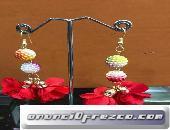 Pendientes artesanales  en variados colores