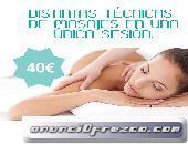 masajes, mezclas ¡para diferentes partes del cuerpo!