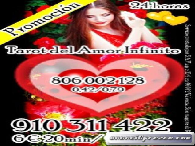 tu mereces lo mejor-  4€ 15 min/ 6 € 20min/9€ 30min /12€ 45min. .tarot del amor infinito 910311422-8