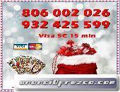 VISA OFERTA 5€ 15 MINUTOS. 806 BARATO 0,42CM MIN.