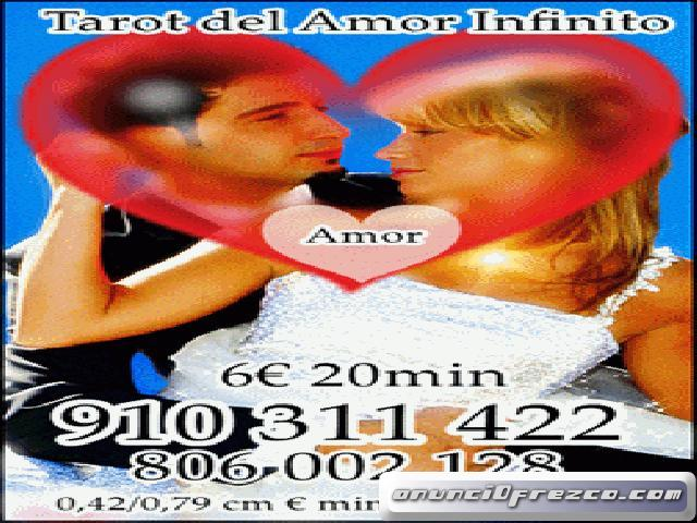 TAROT DEL AMOR INFINITO Visa 6€ 20min/   910311422-806002128 VIDENCIA NATURAL PROMOCIÓN 17€ 70min. 2