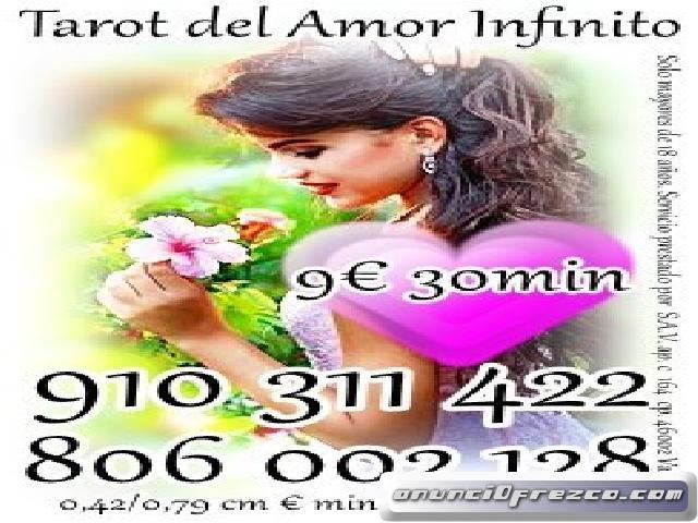 910311422 VISA desde 4€ 15 min/ 6€ 20min/9€ 30min TAROT DEL AMOR ATENCION LAS 24 HORAS