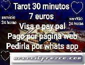 Tarot 30 minutos 7 euros visa o pay pal