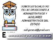 OPOSICIONES AUXILIARES Y ADMINISTRATIVOS DE ESTADO