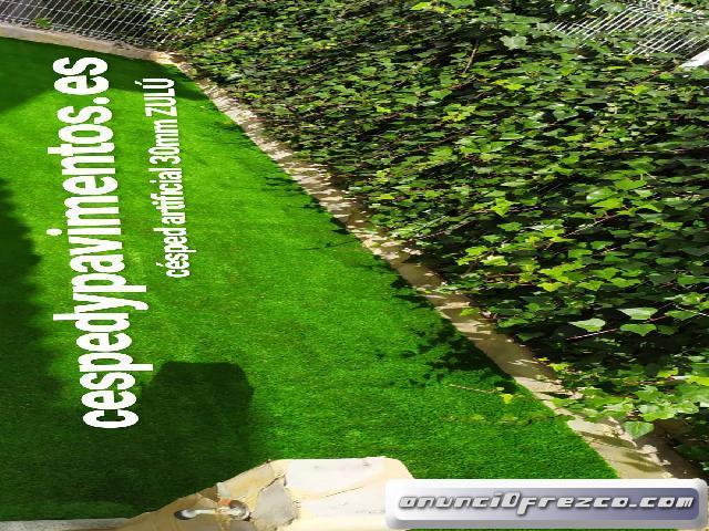 césped artificial terraza a medida