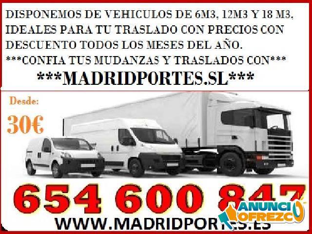 PORTES MUY ECONOMICOS POR HORAS MADRID