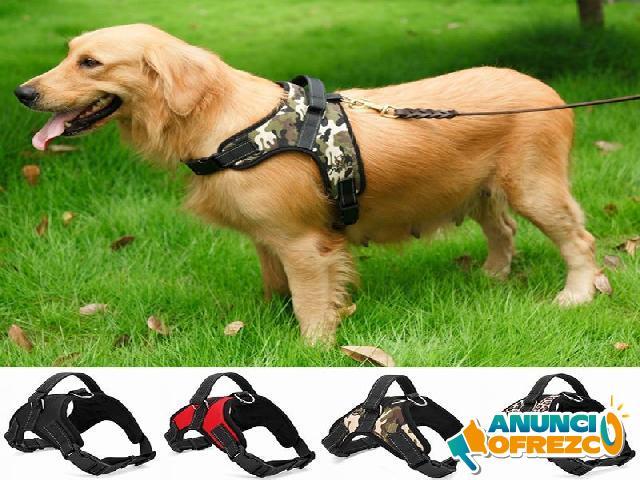 Collar de arnés para mascotas de nylon resistente para perros