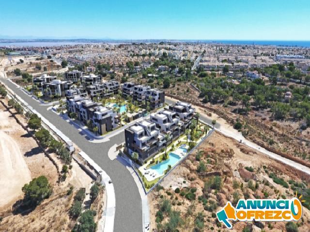 Proyecto de apartamentos con terrazas y área social con piscina, Orihuela Costa