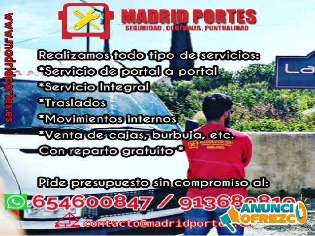 COMUNICATE AL 91/368/91/9 MUDANZAS EN BARRIO DEL PILAR
