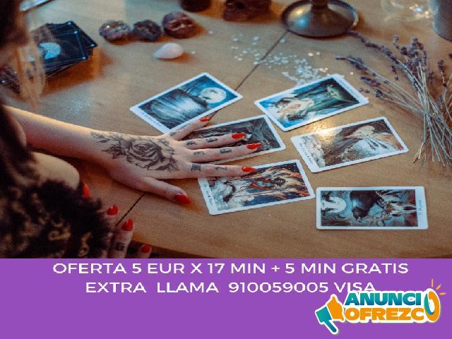 5 EUR X 17MN +5MN GRATIS AL 910059005