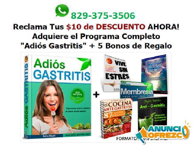 Adiós Gastritis, Uno de los libro mas vendido que acaba con la causa de la Gastritis.