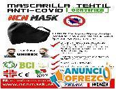 Mascarillas antiviral con tejido textil anti Covid-19 certificado